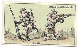 CHROMO - CHOCOLAT DES GOURMETS - Blessé - Chocolat