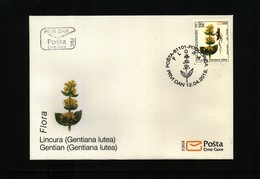 Montenegro  2018 Gentian FDC - Medicinal Plants