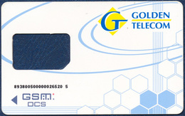 UKRAINE GOLDEN TELECOM GLOBAL TELESYSTEMS GROUP GSM (SIM) CARD FRAME VERY GOOD USED - Ukraine