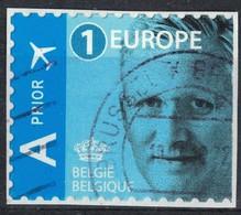Belgique 2016 Oblitéré Used King Roi Philippe Bleu 1 Europe Sur Fragment SU - Belgique