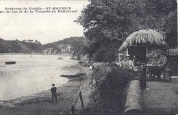 Environ Du POULDU-ST MAURICE-VUE DU LAC ET DE LA TERRASSE DU RESTAURANT  CARTE ANIMEE - Other Municipalities