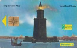 EGYPT - The 7 Wonders Of The Ancient World/The Pharos Of Alexandria, Menatel Telecard, Chip SO3, Used - Egypt