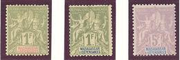 Madagascar: Yvert N°40/42*; MH; Cote 97.00€ - Madagascar (1889-1960)