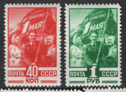 Russia 1949 Unif. 1339/40 **/MNH VF - 1923-1991 URSS