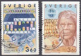 SVERIGE - SVEZIA - SWEDEN - 1989 - Due Valori Obliterati: Yvert 1562 E 1563. - Gebraucht