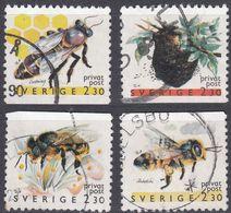 SVERIGE - SVEZIA - SWEDEN - 1990 - Quattro Valori Obliterati: Yvert 1591, 1593, 1597 E 1598. - Gebraucht
