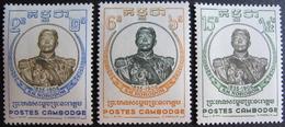 LOT 1628 - 1958 - ROYAUME DU CAMBODGE - ROI NORODOM - N°75 à 77 NEUFS* - Cambodia