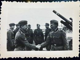 PHOTO WW2 WWII : Artilleurs WAFFEN         //1.39 - Guerra, Militari