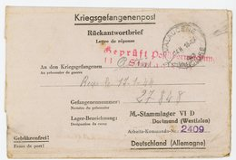 VAUCLUSE CLFM PRISONNIERS GUERRE 1943 MALAUCENE => STALAG VID =DORTMUND MUNSTER - Marcophilie (Lettres)