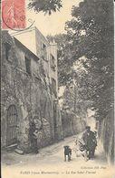 Paris (Vieux Montmartre) - La Rue St Saint-Vincent, Homme Et Son Chien - Collection ND Phot., Carte N° 517 - Arrondissement: 18