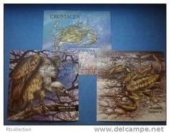 Tanzania 1994 - 3 M/S Birds Of Prey Bird Eagle Animals Fauna Nature Crab Marine Life Sealife Arachnids Stamps CTO - Eagles & Birds Of Prey