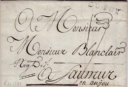 LAC De Le Puy (73) Pour Saumur (49) - 6 Novembre 1781- Taxe Manuelle 17 + ML DU-PUY - Marcofilie (Brieven)