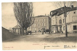 07 ALBOUSSIERE LA PLACE 1905 CPA 2 SCANS - Sonstige Gemeinden