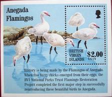 British Virgin  Isl.  1995  Flamingos  S/S   MNH - Flamingo
