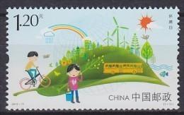2015 CHINE CHINA  ** MNH Vélo Cycliste Cyclisme Bicycle Cyclist Cycling Fahrrad Radfahrer Radfahren Bicicleta Cic [cp84] - Umweltschutz Und Klima