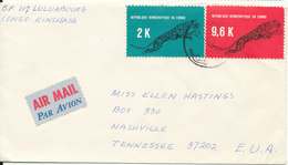 Congo Kinshasa Cover Sent Air Mail To USA 1969 Topic Stamps Leopard - Democratische Republiek Congo (1964-71)