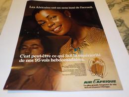 ANCIENNE PUBLICITE  AIR AFRIQUE 1977 - Pubblicità