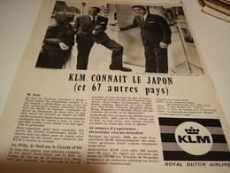 ANCIENNE PUBLICITE KLM ROYAL DUTCH AIRLINES 1964 - Pubblicità