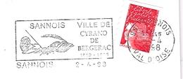 France, Flamme, Cyrano De Bergerac, Sannois - Ecrivains