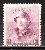 176**  Roi Albert Casqué - LA Bonne Valeur - MNH** - LOOK!!!! - 1919-1920 Roi Casqué