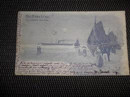"Bateau  Boot  Red Star Line  Paquebot "" Belgenland ""  Illustrateur H. Cassiers - Paquebots"
