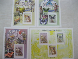 Guinea 2004  Scouting & Nature 4130-4132 Bl 865-867 - Guinea (1958-...)