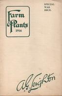 Catalogue 1916 Leighton Farm Plants Speciel War Issue - Jardinage