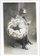 DONNA CONN OMBRELLO -  STILE LIBERTY - FOTO D'EPOCA -  PREMIATA FOTOGRAFIA L. GUERRA MILANO - CARTA TENSI 1922 FP - Photographs