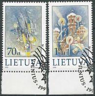 LITAUEN 1999 Mi-Nr. 715/16 O Used - Aus Abo - Lithuania