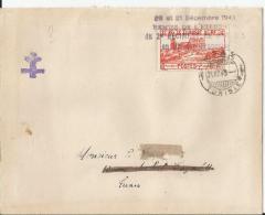 """Lettre De SFAX  21/12/1943  Griffe """"remise De L'etendard  Du 2eme Regiment Dragons"""" TB - Tunisia (1888-1955)"""