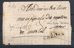 1798 Circulaire Cursive Dept Du Lot + 44 CAHORS LOT(44) SUP. P2858 - Poststempel (Briefe)