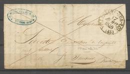 1840 LOT ET GARONNE Lettre En Franchise CAD T13 VILLENEUVE-SUR-LOT X3003 - Marcophilie (Lettres)