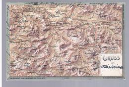 AK Leuzinger's Reise-Reliefkarte Von Tyrol Nr. 11 Gruss Aus Landkarte MAP 1901, 2 Scans - Österreich
