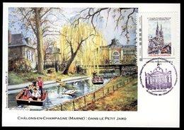Carte Maximum - Châlons-en-Champagne - Dans Le Petit Jard - 4 Et 5 Octobre 2014 Congrès Philatélique - Maximum Cards