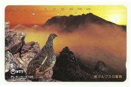 Giappone - Tessera Telefonica Da 105 Units T445 - NTT, - Uccelli