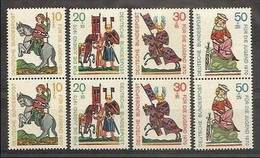 1970 GERMANIA GERMANY DEUTSCHLAND, PRO GIOVENTU'  FüR DIE JUGEND 2 Serie Di 4v. MNH** 475/78 - [7] Federal Republic