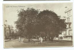 Kent Postcard Folkstone Castle Hill Ave. Posted 1930 - Folkestone