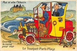 62-LE TOUQUET-PARIS-PLAGE- CARTE A SYSTEME - Le Touquet
