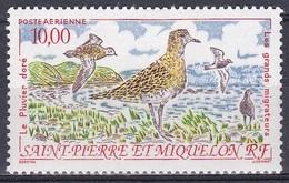 St. Pierre Und Miquelon 1993 Tiere Fauna Animals Vögel Birds Oiseaux Pajaro Uccelli Regenpfeifer Plovers, Mi. 655 ** - Ungebraucht