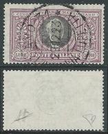 1923 REGNO USATO MANZONI 5 LIRE CERTIFICATO  - AS - Usati