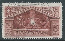 1930 REGNO USATO VIRGILIO 5 LIRE - AS - Usados