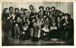 040518C FOLKLORE COSTUME AUVERGNE Groupe Espoir D'Auvergne Musiciens Danseurs Accordéon PHOTO J SALESSE VITRY SUR SEINE - Costumes