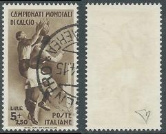 1934 REGNO USATO MONDIALI DI CALCIO 5 LIRE - AS - Usati
