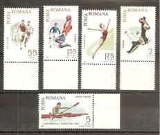1965 Romania CAMPIONATI SPORTIVI  SPORTS CHAMPIONSHIPS  Serie Di 5v. (2170/74) MNH** - Francobolli