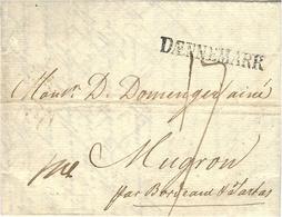 1802 - Letter From Copenhagen To Mugron ( Near To Bordeaux ) DAENNEMARR Or DAENNEMARK - Danimarca
