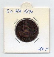 Spagna - 1870 - 5 Centesimi - (FDC9518) - Altri