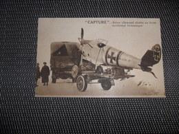 """Avion Allemand Abattu Au Front Occidental Britannique -  """" Capturé """" - 1914-1918: 1a Guerra"""