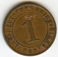 Allemagne Germany 1 Reichspfennig 1927 E J 313 KM 37 - [ 3] 1918-1933 : Weimar Republic