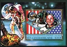 Central African Republic, 1980, Space, Apollo, MNH Sheet, Michel Block 71A - República Centroafricana