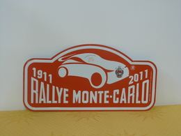 "Plaque De Rallye ""MONTE CARLO"" 2011 Rally Plate - Rallye (Rally) Plates"
